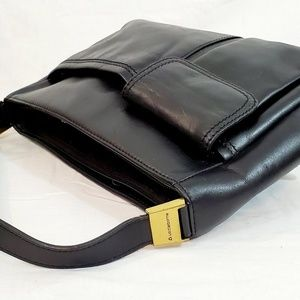 Liz Claiborne Black Leather Pocketbook